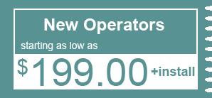 $199.00 - New Operators